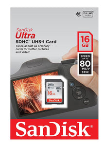 Sandisk 16GB SD Card Fitzgeralds_Homevalue_Euronics_Hardware_Dingle_Kerry