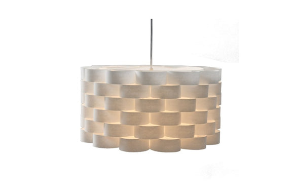 Quadro Interlocking White Drum Shade