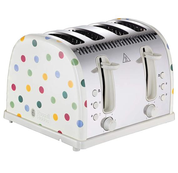 Russell Hobbs Toaster Polka Dot 4 Slice Toaster | 21305 {{ Fitzgeralds_Homevalue_Hardware_Dingle_Kerry}}