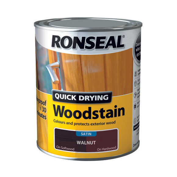 Ronseal Quick Drying Woodstain Walnut