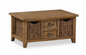 Cortona Large Coffee Table With Baskets