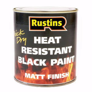 Rustins Heat Resistant Black Paint