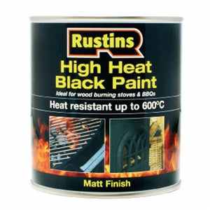 Rustins High Heat Black Paint