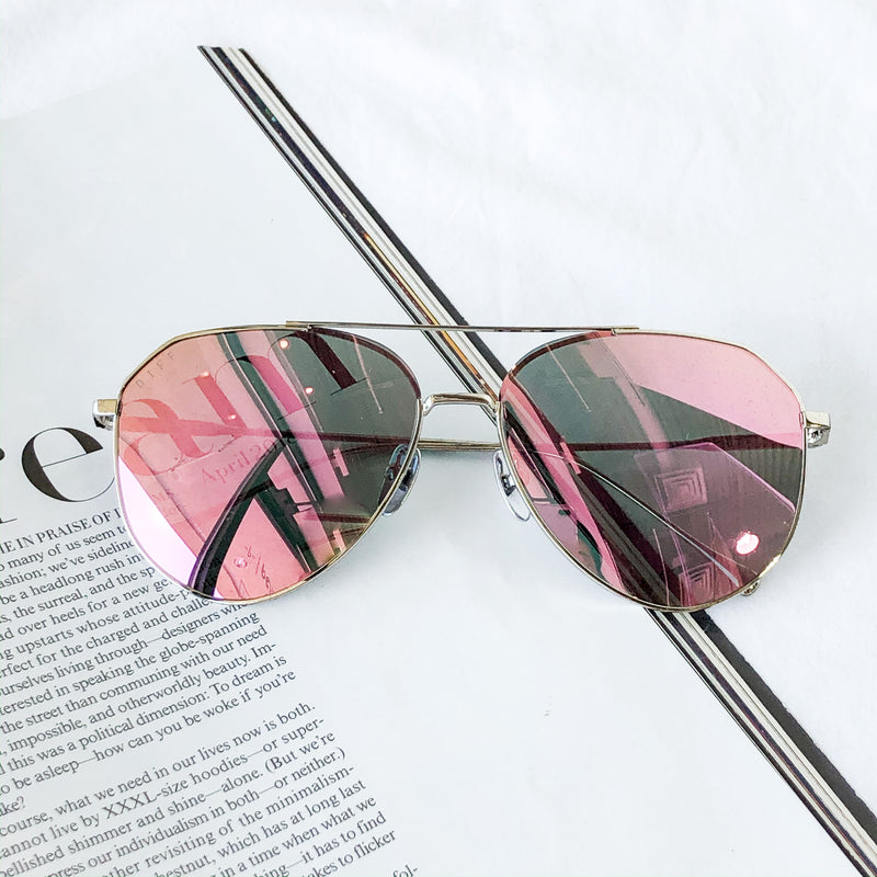 DIFF Dash Sunglasses in Pink Silver