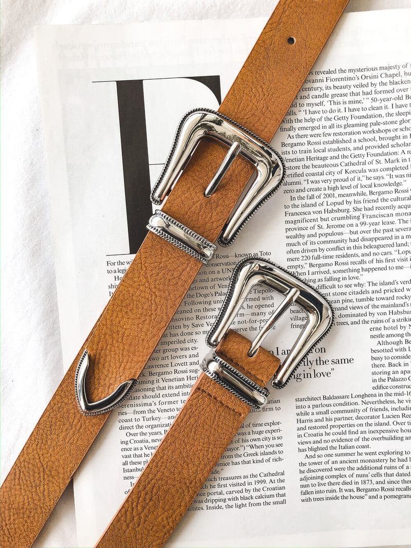 Desmond Double Buckle Belt (available in two colors)