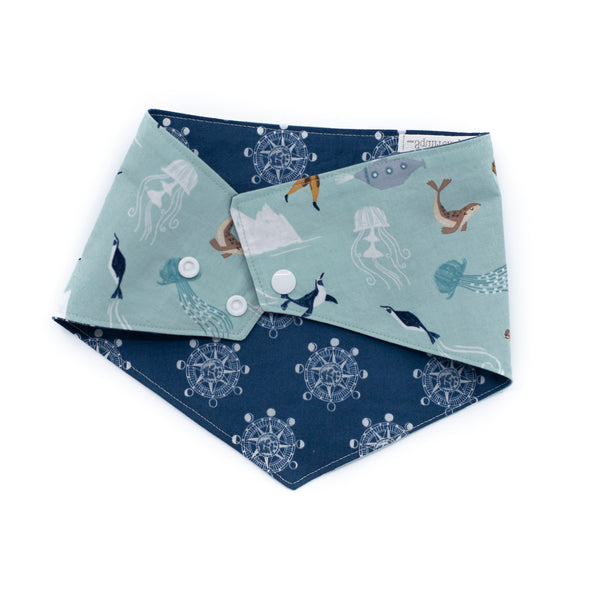 Nautical Reversible Bandana