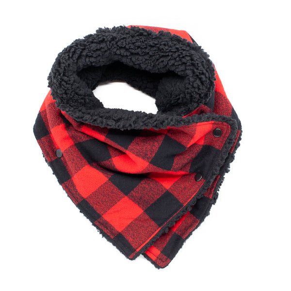 Cozy Buffalo Plaid Adult Neckwarmer