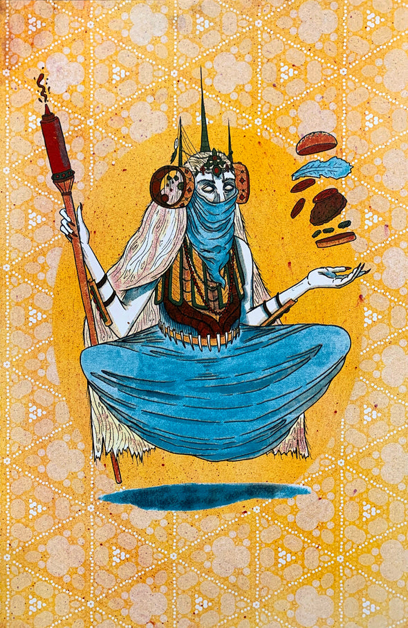 Burger Witch Design by Griffin Cook yellow