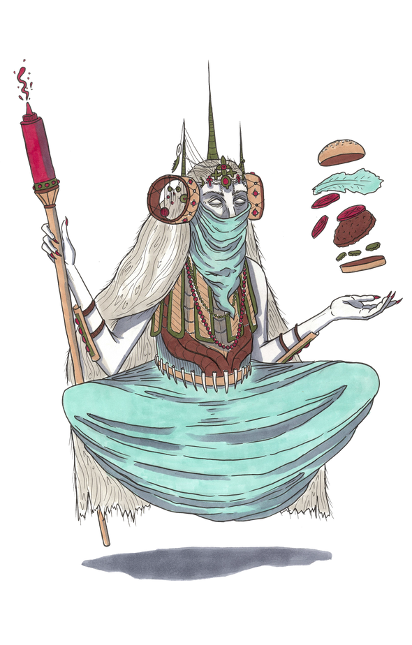 Burger Witch Design by Griffin Cook