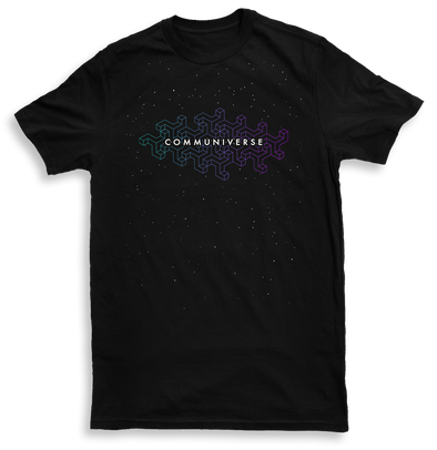 Communiverse Mens Black Tshirt by Metric Tones