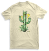 Mens Crystal Cactus Natural Tshirt Emerald Design by Yeah Right
