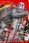 Karma Chameleon print Yeah Right red