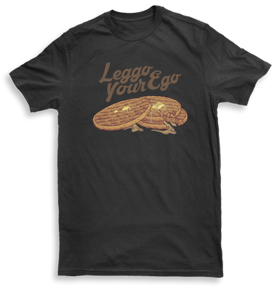 Leggo Your Ego Mens Charcoal Tshirt  by Yeah Right