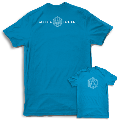 Metric Tones Mens Teal Tshirt by Metric Tones