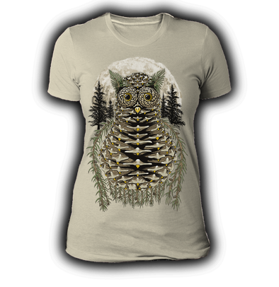 Pinecone ladies Natural Tshirt by Yeah Right