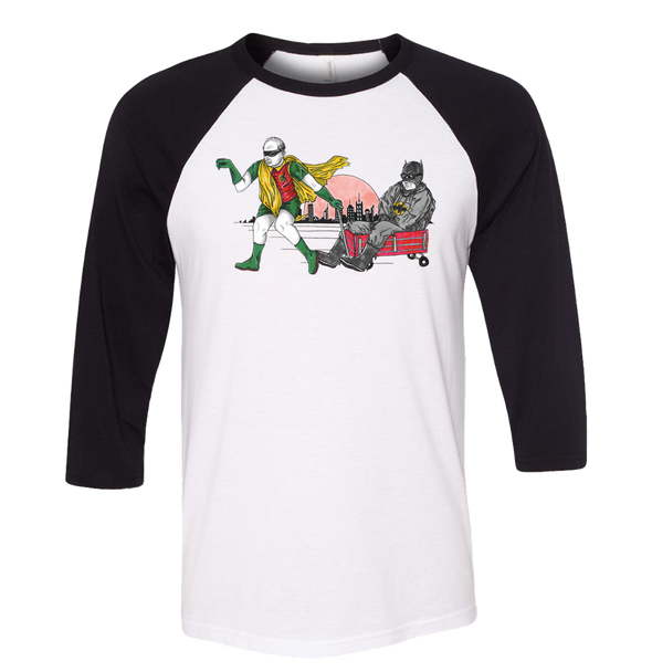 Weekend at Batman's unisex Raglan