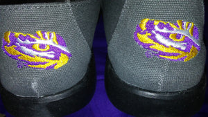 LSU Slip On Canvas-Grey