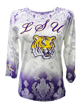 Load image into Gallery viewer, LSU P Michaels Dip Dye 3/4 Sleeve Shirt