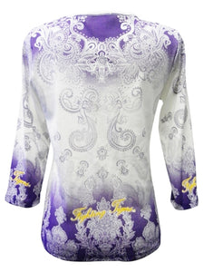 LSU P Michaels Dip Dye 3/4 Sleeve Shirt