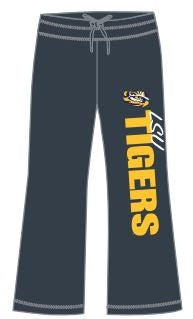 Women's LSU Sweatpants - Charcoal
