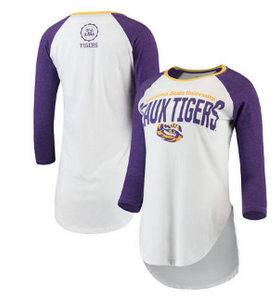 Women's LSU Quin 3/4 Sleeve Tee
