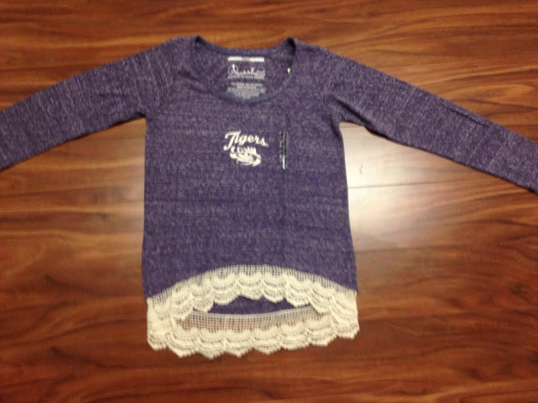 LSU Crochet Trim Top