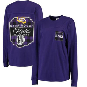 LSU Plaid Spirit Jersey