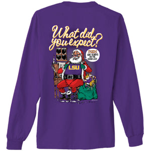 LSU Santa's Good List L/S Shirt