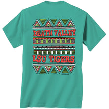 Load image into Gallery viewer, LSU Death Valley Tribal S/S Tee - Lagoon Blue