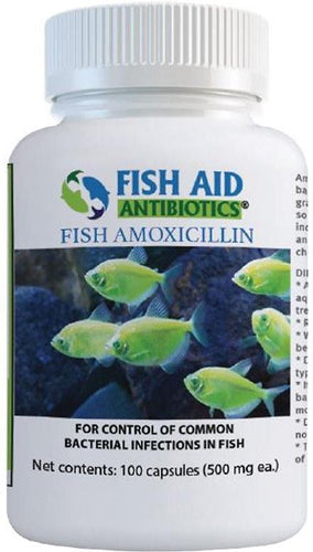 Fish Aid (500 mg 100 Count) Antibiotics Amoxicillin Capsules Fish Medication By Fish Aid Antibiotics