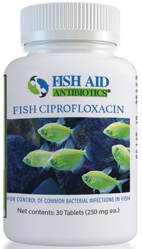Fish Aid Ciprofloxacin 250 mg - 30 count