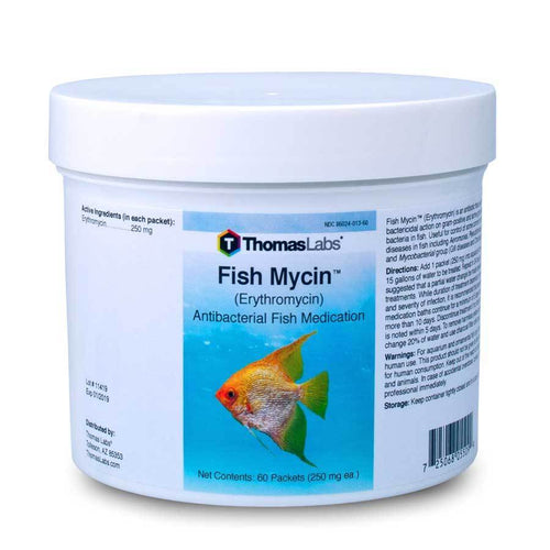 Fish Mycin - Erythromycin 250 mg Powder Packets (60 Count)