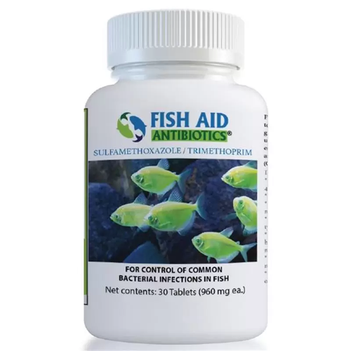 Fish Aid Antibiotics Sulfamethoxazole / Trimethoprim Tablets, 960 mg
