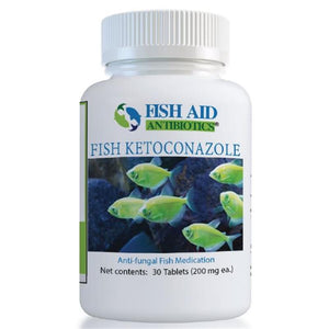 Fish Aid Antibiotics Ketoconazole 200 mg, 30 Tablets