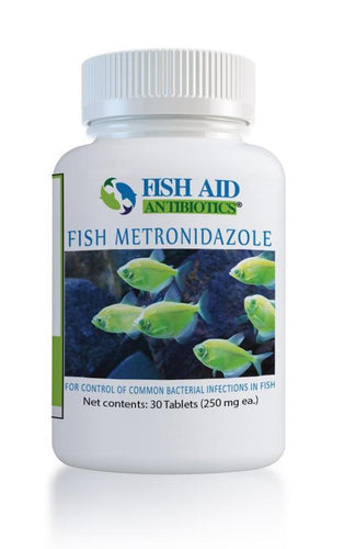 Fish Aid Metronidazole - fish aid Antibiotics 250 mg  30 Tablets