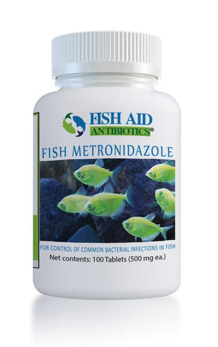 Fish Aid Metronidazole - fish aid Antibiotics 500 mg 100 Tablets