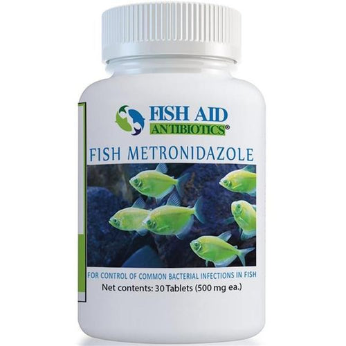Fish Aid Metronidazole - fish aid Antibiotics 500 mg 30 Tablets