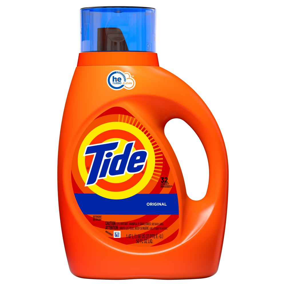 Laundry Detergent, Tide Original Scent Liquid 50 Oz.