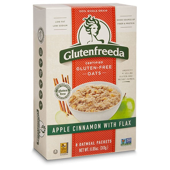 Oatmeal, Glutenfreeda Apple Cinnamon with Flax Instant 11 Oz.