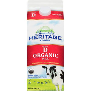 Milk, Organic Heritage Whole 1/2 Gal.