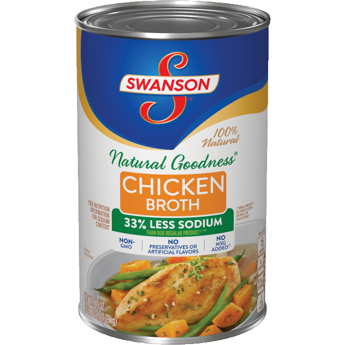 Broth, Swanson Low Sodium Chicken 48 oz.