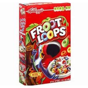 Cereal, Kellogg's Froot Loops 10.1 oz.