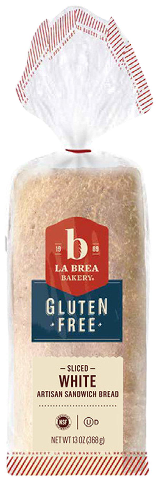 Bread, Gluten Free Artisan White Sliced 13 oz.