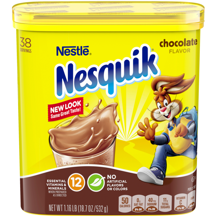 Nesquik, Classic Chocolate Powder 20.1 Oz.