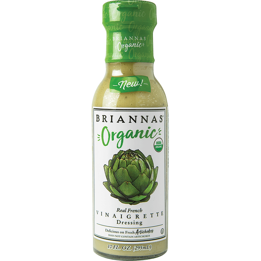 Dressing, Briannas Organic Real French Vinaigrette 10 Oz.