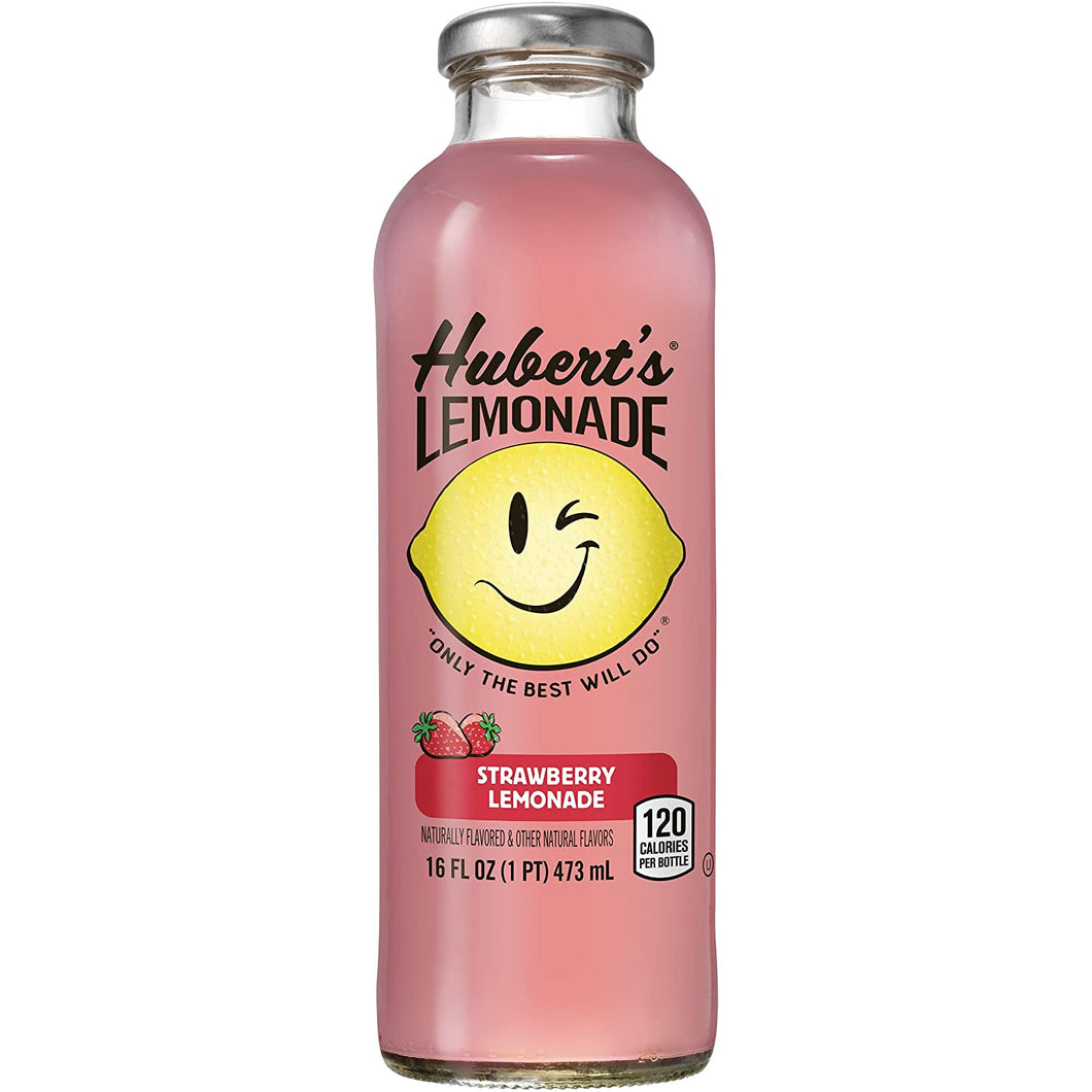 Lemonade, Hubert's Strawberry 16 Oz.
