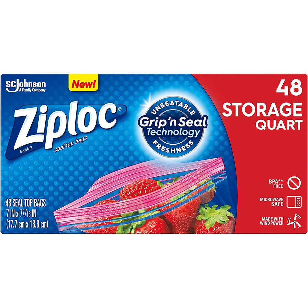 Ziploc, Quart 48 Ct.