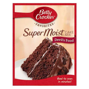 Cake Mix, Betty Crocker Super Moist Devil's Food