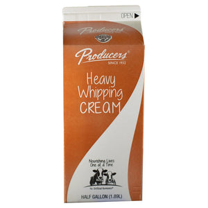 Heavy Cream, Producers 1/2 Gal.