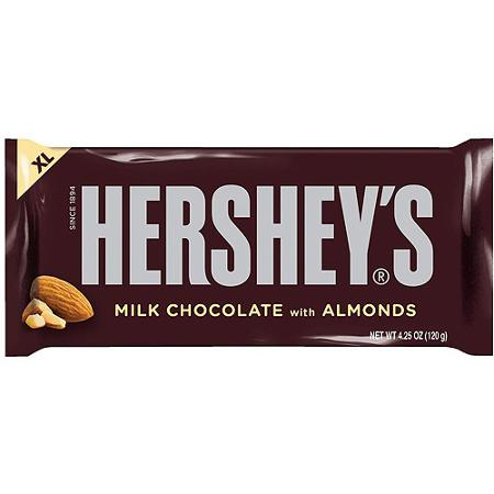 Candy, Hershey's Milk Chocolate Almond XL